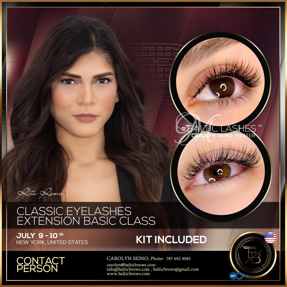 Basic class of classic of eyelash extension
