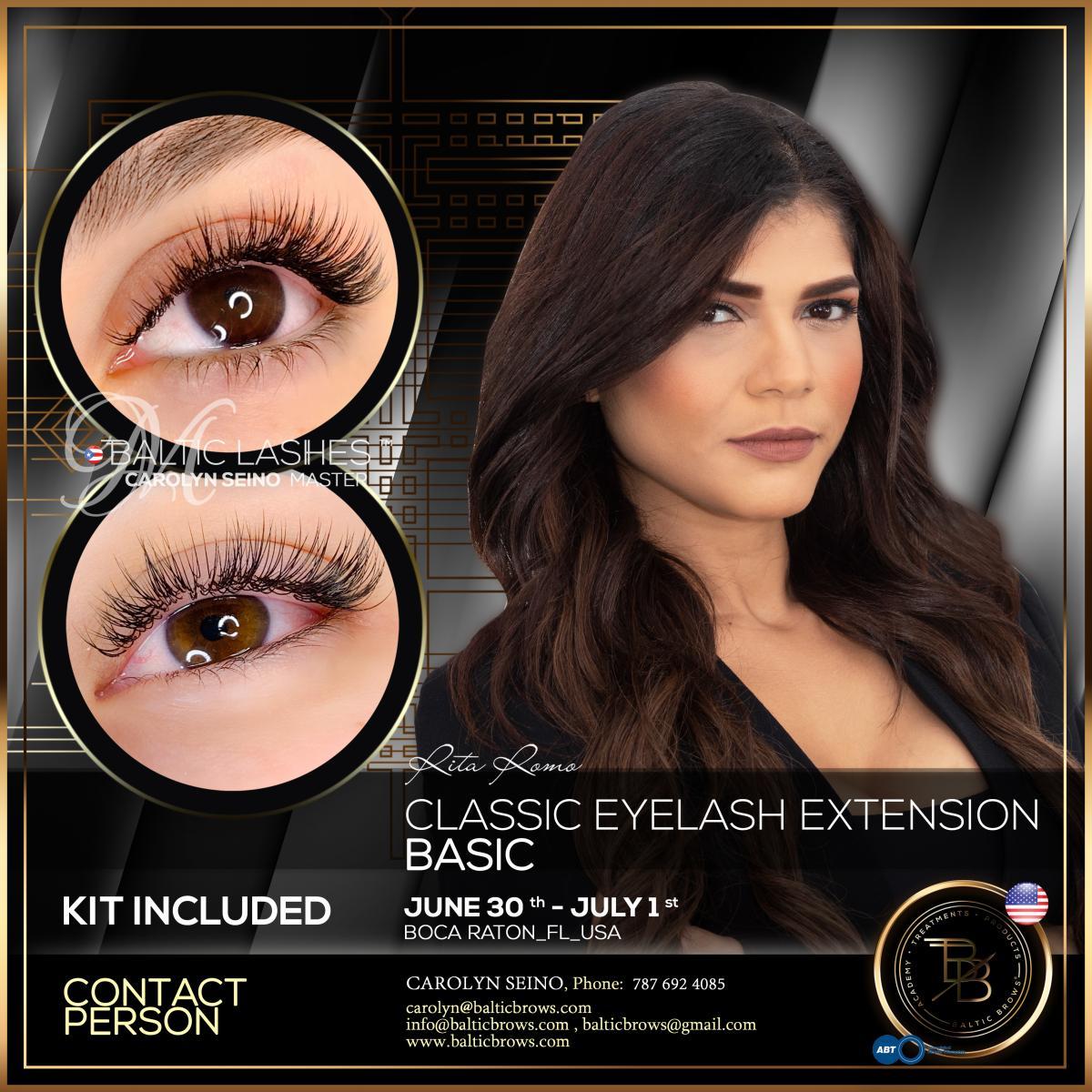 Basic class of classic eyelash extension
