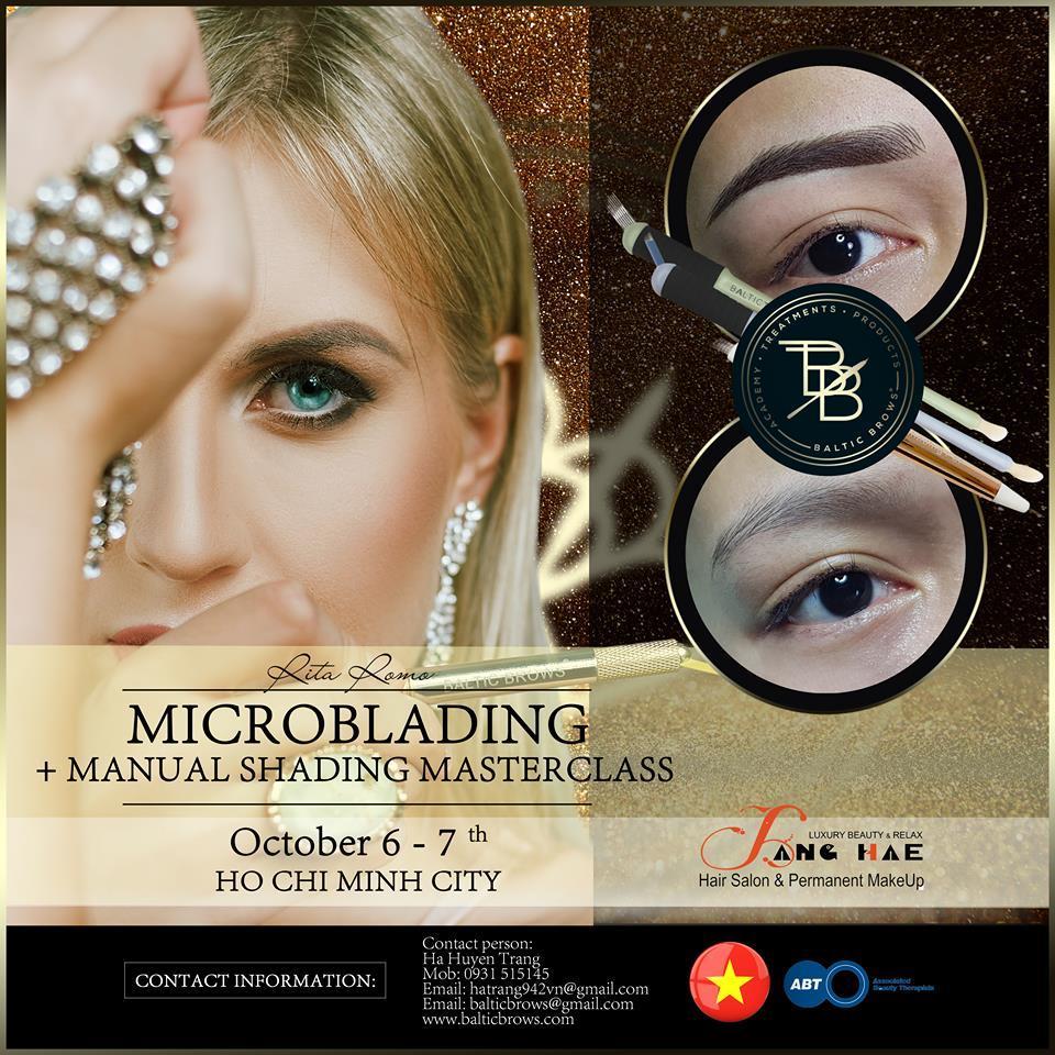 Microblading + manual shading