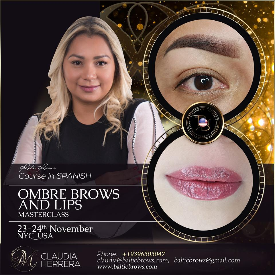 Ombre brows and lips masterclass