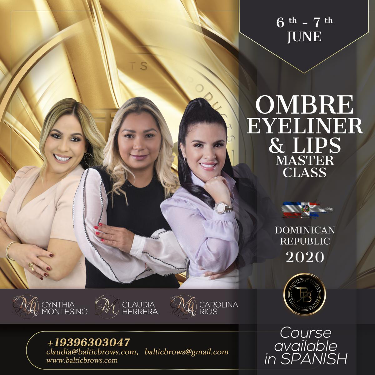 Ombre eyeliner and lips masterclass