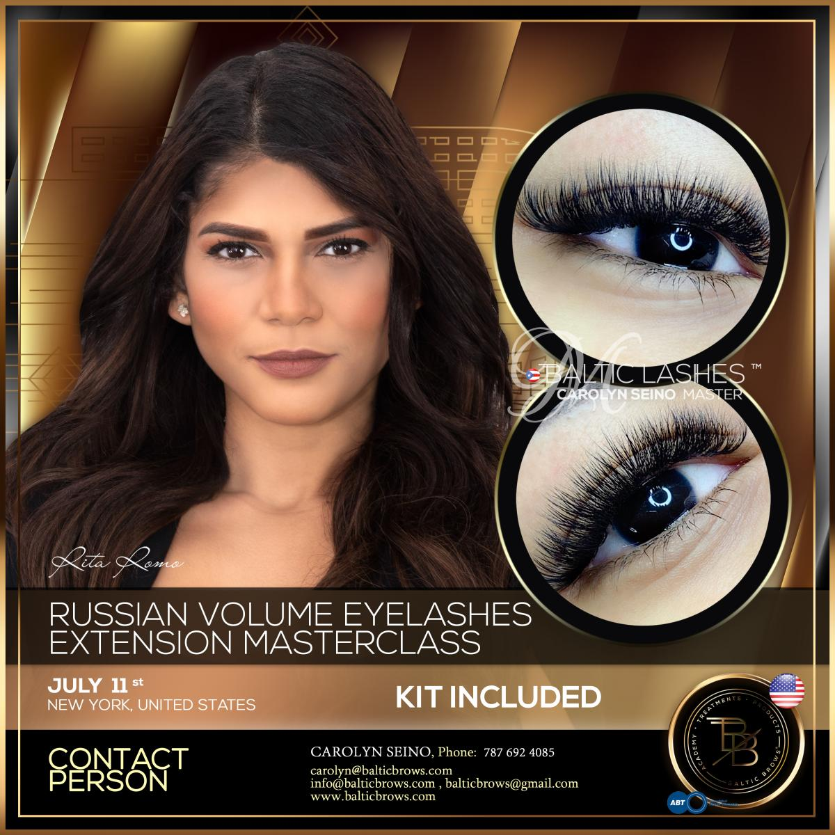 Russian volume eyelash extension masterclass