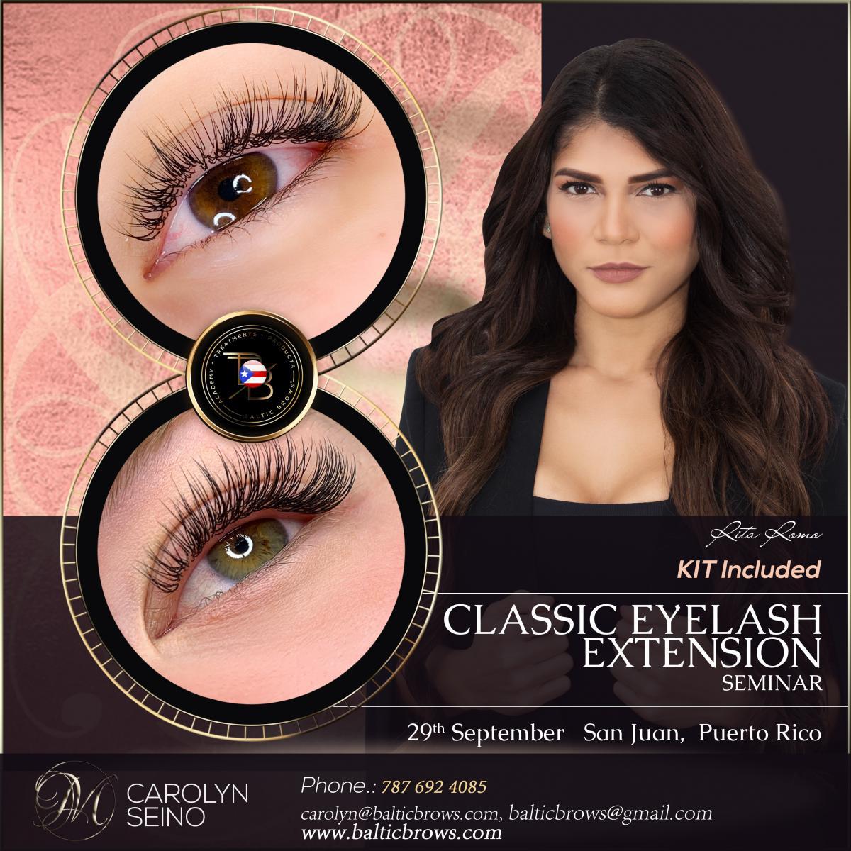 Classic eyelashes extension seminar